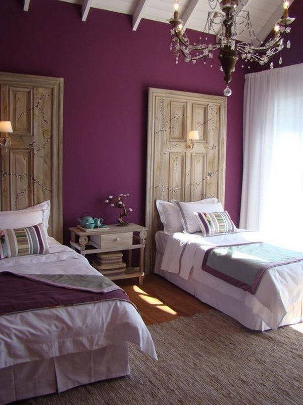 80 inspirational purple bedroom designs ideas - How to decorate bedroom walls with pictures ...