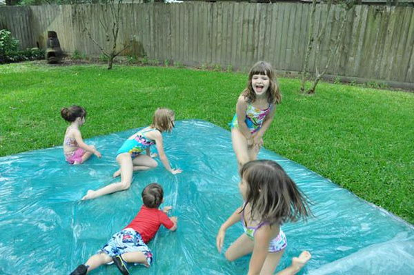 Great Water Bed and Water blob.  This is easy and cheap to make and you won't believe how much fun this is- perfect for kids!