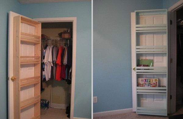 Add a Closet Door Shelf