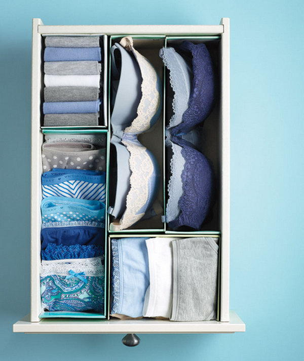 Use Shoe Boxes as DIY Dividers