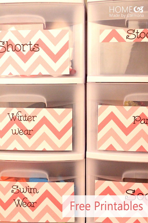 Use Drawer Printables or Tags to Identify the Inside Items