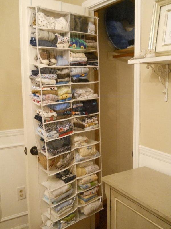 Behind The Door Storage Idea