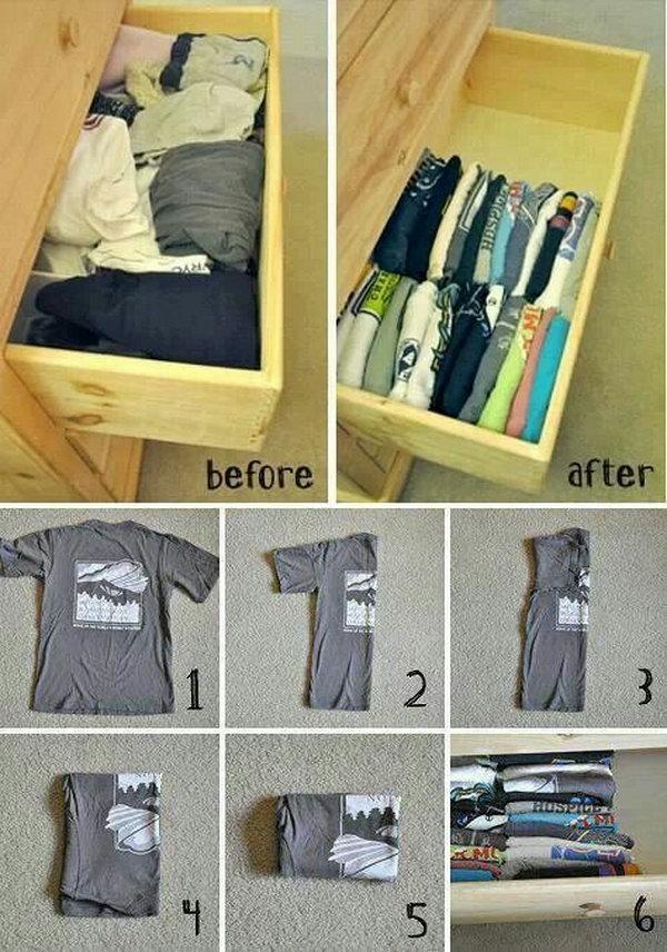 T-Shirt Drawer Organization