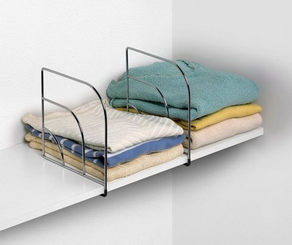 Store Clothes on Shelves More Efficiently with Shelf Dividers