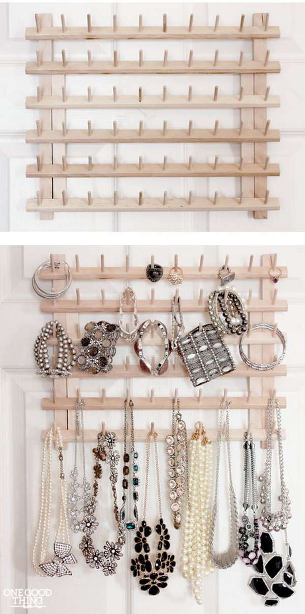 From Thread Rack To Jewelry Organizer