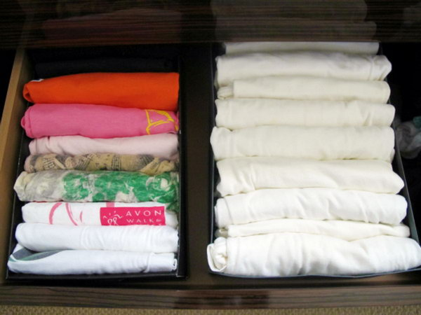 Use Old Shoe Boxes as Drawer Organizers