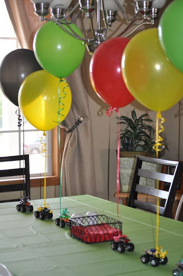 Monster Truck Favor Centerpiece
