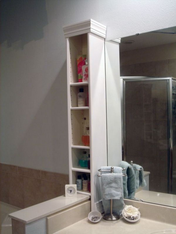 Benno DVD Stand as Bathroom Countertop Storage.