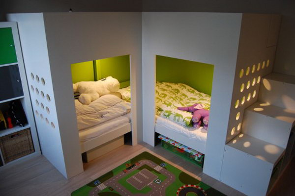 20 awesome ikea hacks for kids 39 beds - Lit double superpose ikea ...