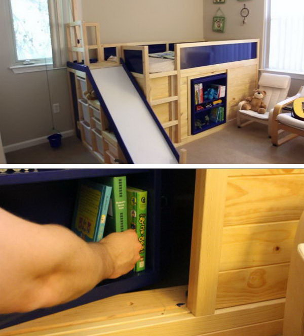 IKEA Kura Transformed into Bed and Playland