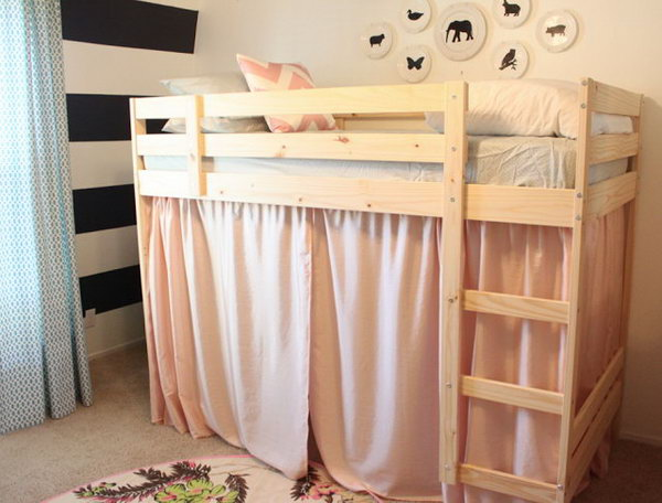 Turn an IKEA Mydal bunk Bed to a Loft Bed with a Little Secret Play House