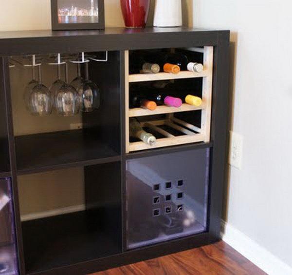 25 ikea kallax or expedit shelf hacks. Black Bedroom Furniture Sets. Home Design Ideas