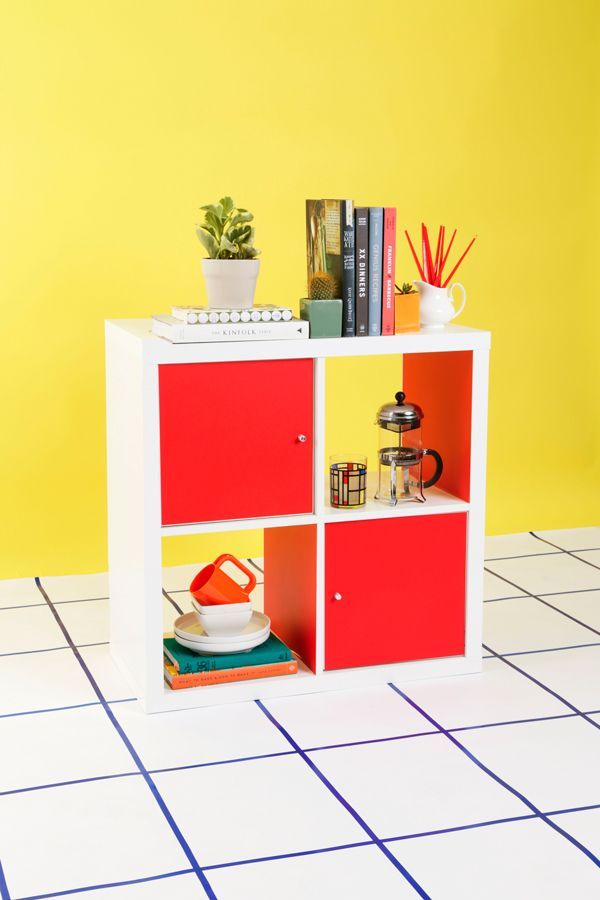 Creative Kallax Hacks with Pops of Color and Doors. See more