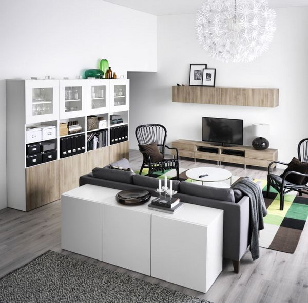 Elegant Black, gray, White Ikea Living Room Ideas. Super elegant and sensual black and white living room design might be perfect fit for you if you are a fan of the contemporary and modern style.