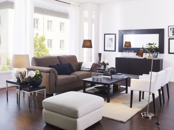 15 beautiful ikea living room ideas - Ikea small living space ideas ...