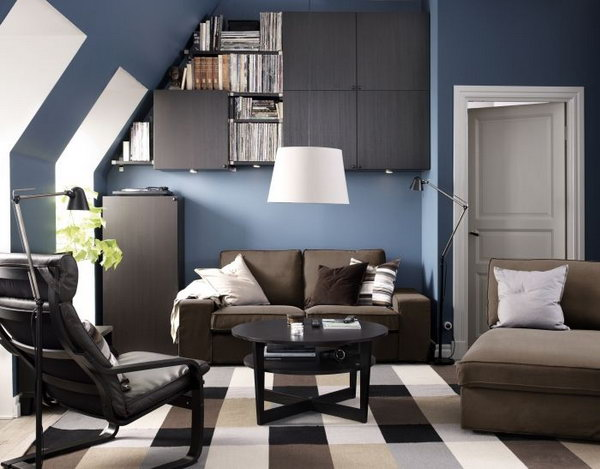 Creative Solution To Create More Space In The Small Living Room. Making  Full Use Of
