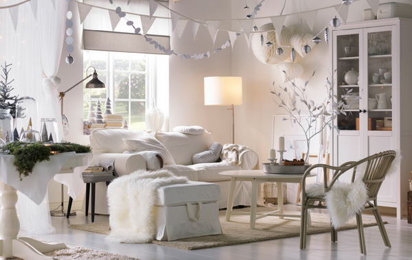 Living Room Inspired By Winter. This Living Room Can Be Called A White  Winter Wonderland