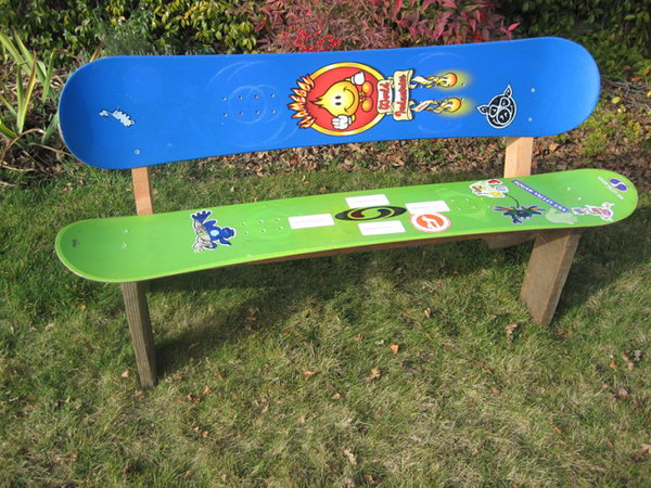 Skateboard Chair or Bench: The useless skateboards were converted to extremely cute chair for your kids. You can also make one for yourself. And you'll be able to take pleasure in your gear year round, perhaps while sipping a tasty beverage. Check out more details
