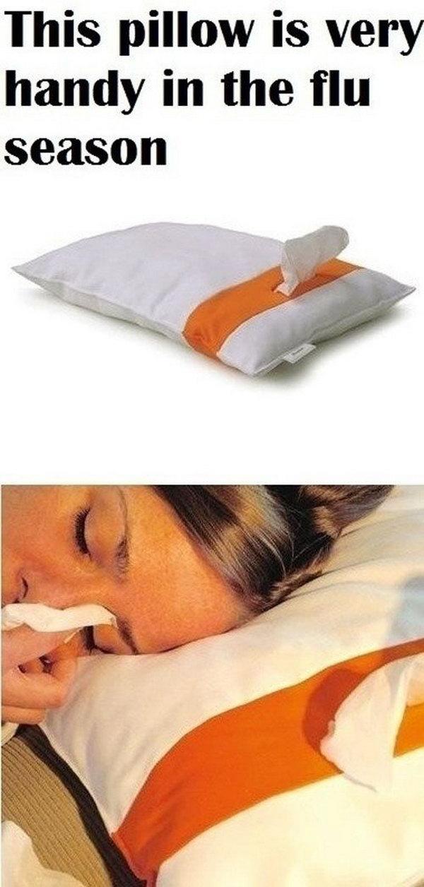 Tissue-dispensing Pillow .