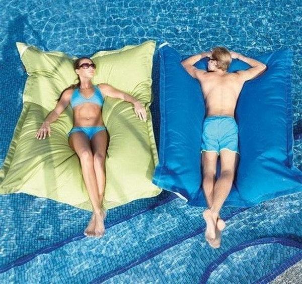 Cool Floating Pool Bean Bag Pillow .