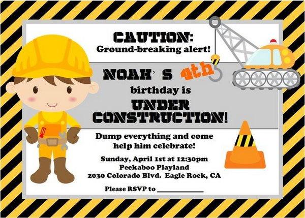 40  construction themed birthday party ideas