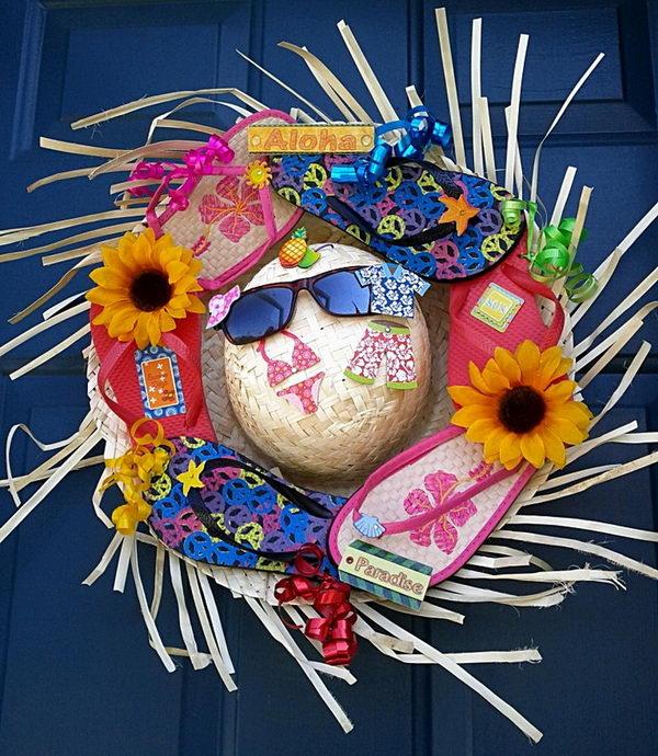 10 Diy Flip Flop Wreath Decorating Ideas