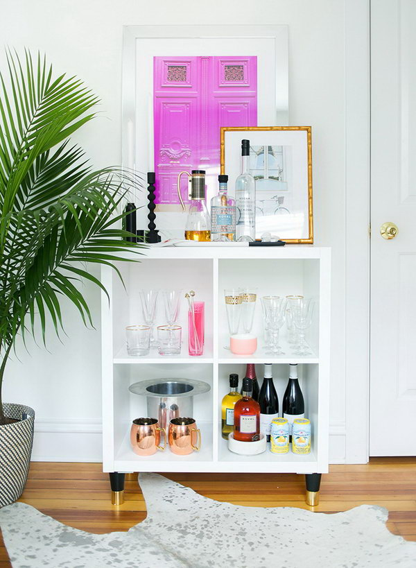 25 ikea kallax or expedit shelf hacks for Decoration kallax