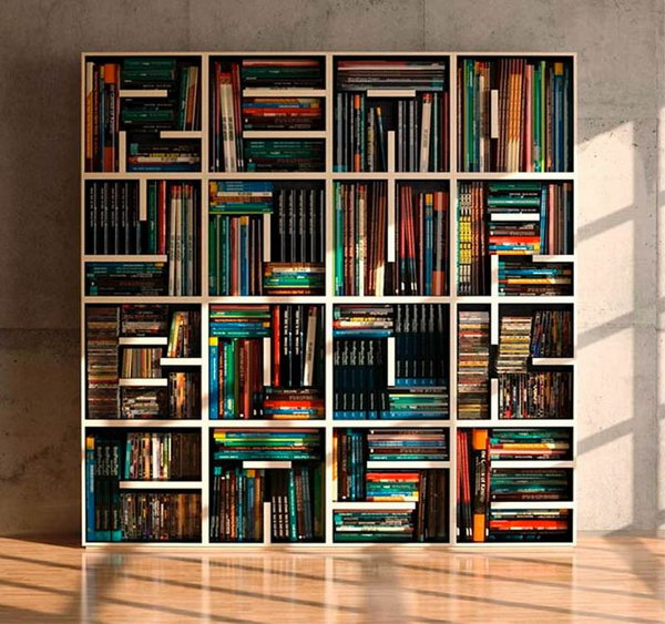 Merveilleux ABC Bookcase Is Composed By Open Shelving Square Modules. Through The Use  Of Shelves Of