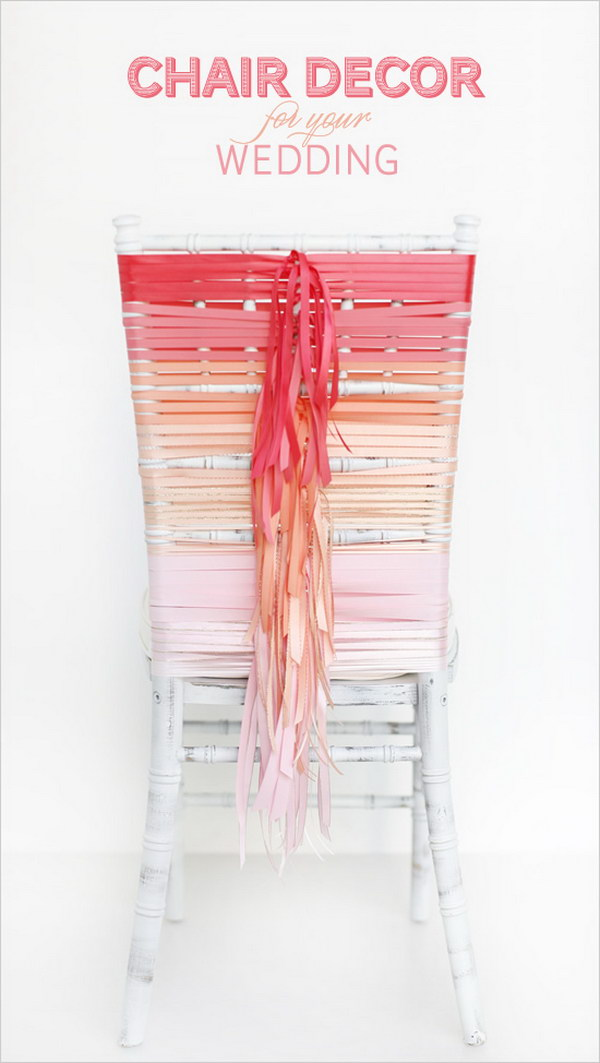 Ombre Wedding Chair. Check out the tutorial