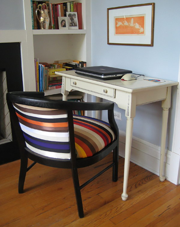 Ribbon Upholstered Chair. See the tutorial