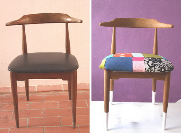 DIY Patchwork Chair. See how