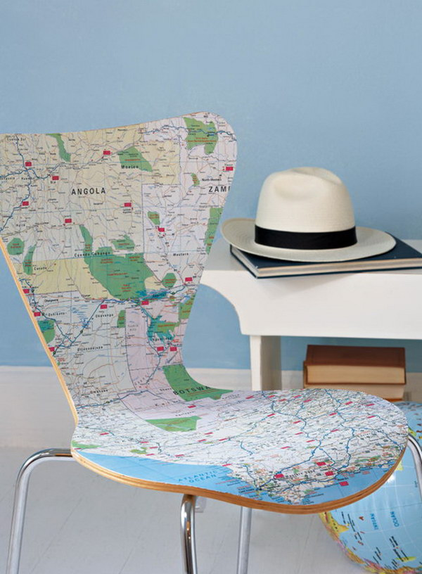 Map Decor Chair. Get the steps