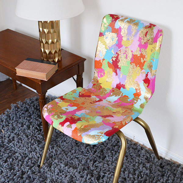 School Chair Makeover – Welcome to Art Class. See the tutorial
