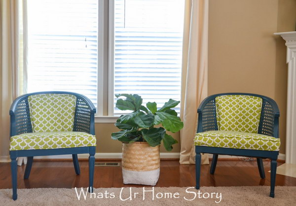 Cane Back Chair Makeover. See more details