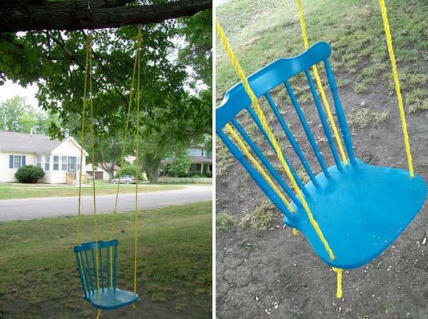 DIY Chair Swing. See the steps