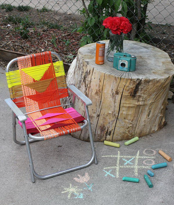 DIY Woven Chair. Get the tutorial