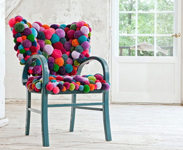 Pom Pom Chair Piece. See more directions