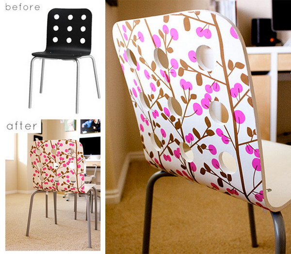 Chair Refashion Using Decoupage Paper. See how