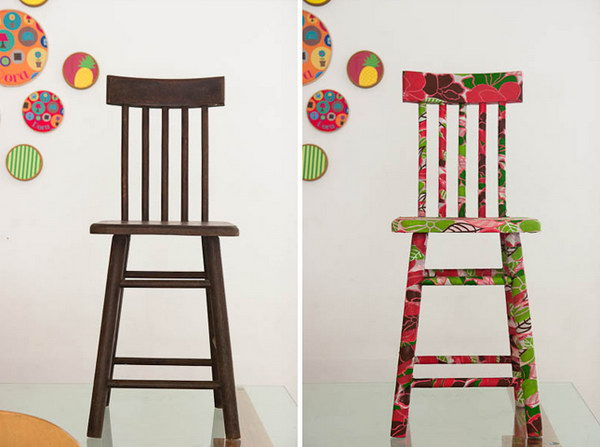 Fabric Covered Chair. Get the tutorial