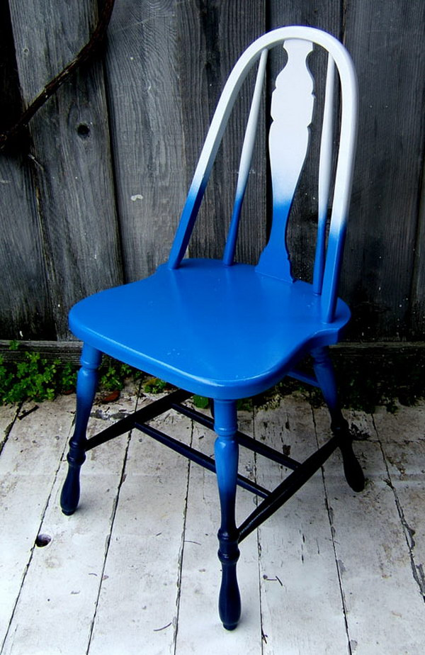 Shades-of-Blue Ombre Chair. Get the steps