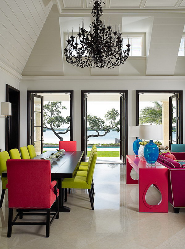 40 beautiful modern dining room ideas for Pictures of beautiful dining rooms