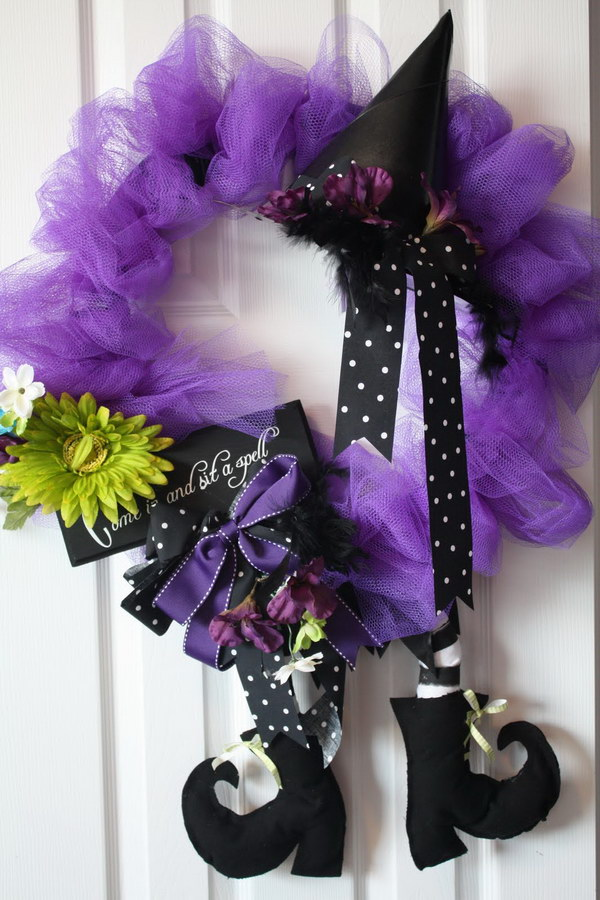 Purple and Black Witchy Wreath Tutorial.