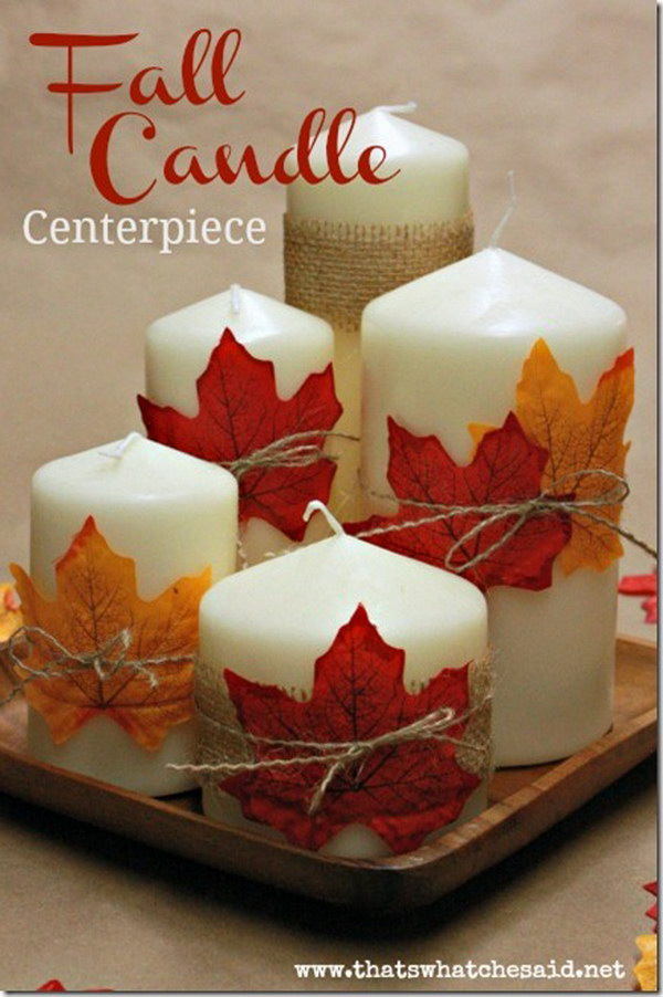 DIY Fall Candle Centerpiece