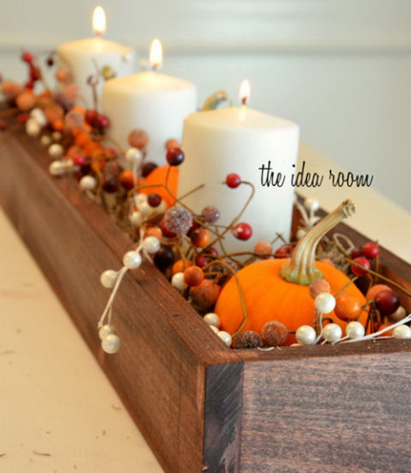 Autumnal Table Centerpiece