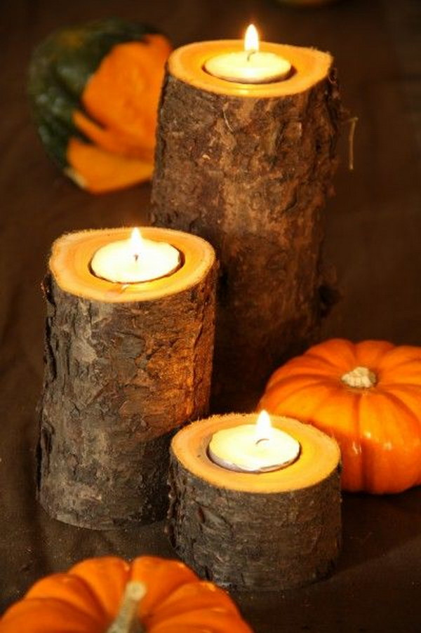 Easy Fall Wood Candle Project.