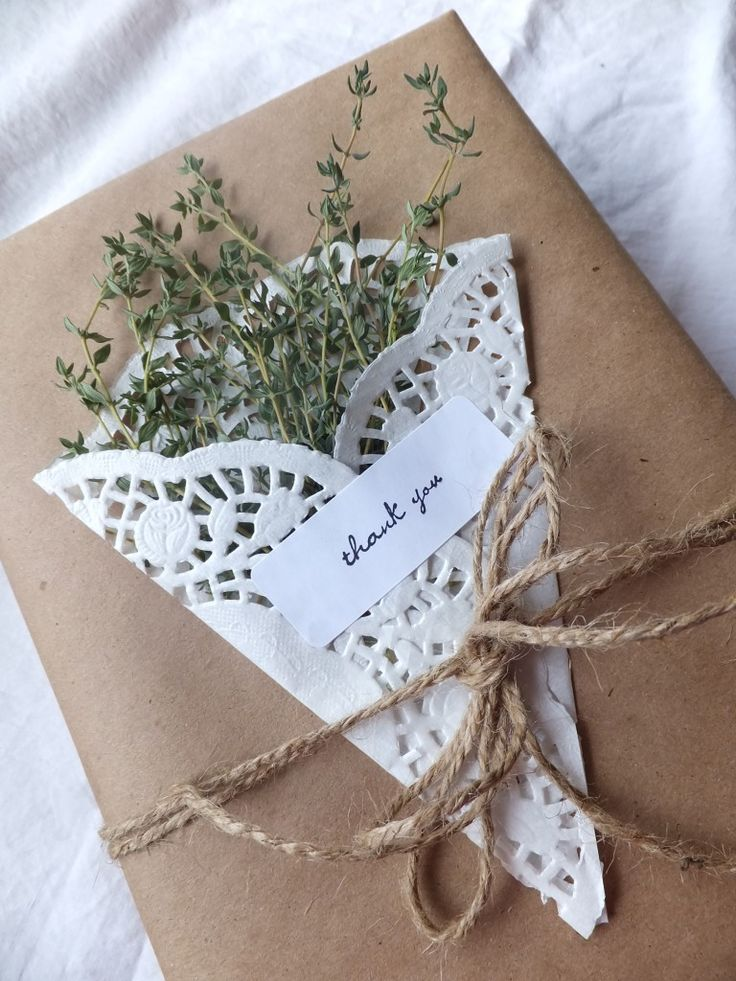 Wrap Herbs in a White Paper Doily for a Beautiful Sweet-Smelling Package .