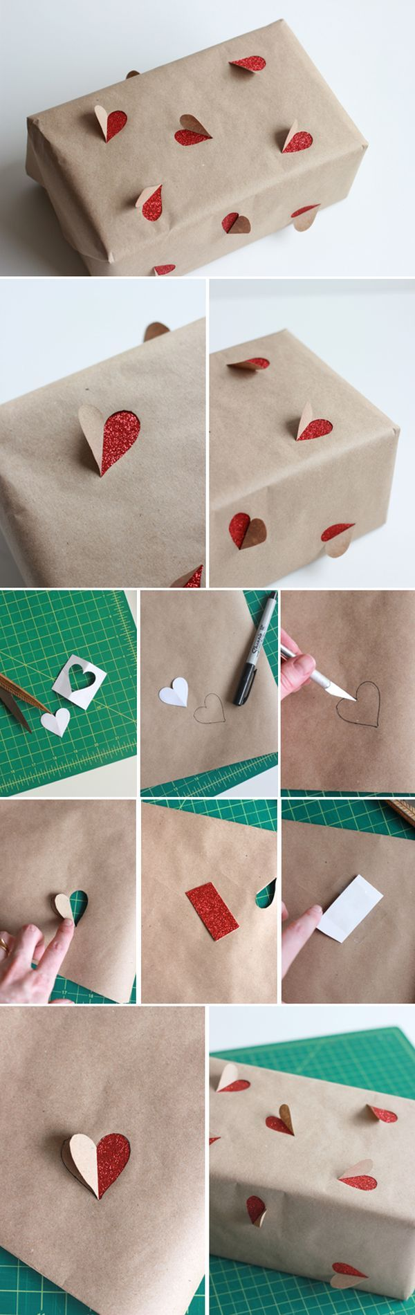 DIY Valentine's Day Gift Wrapping .