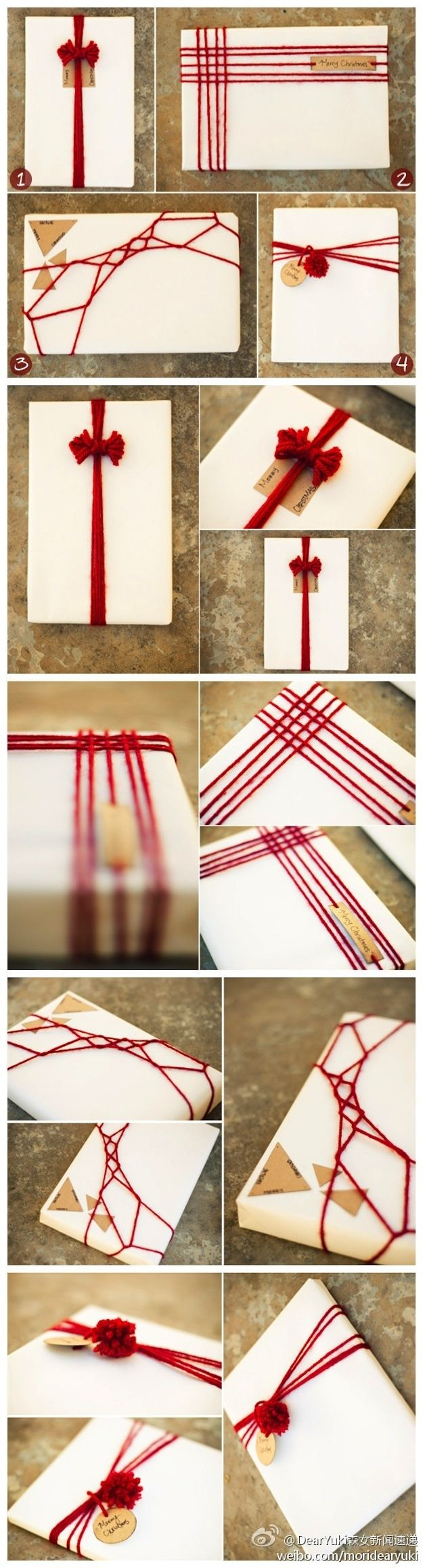 Yarn Gift Wrapping.