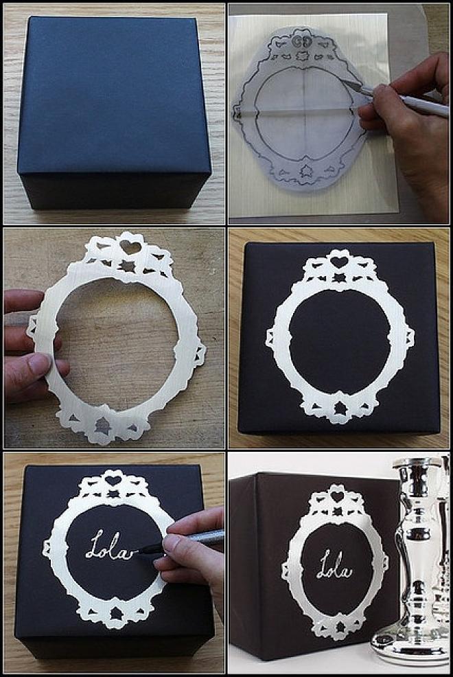 Metallic Contact Paper Gift .