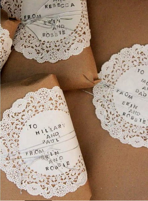 DIY Paper Doilies Gift Tags.